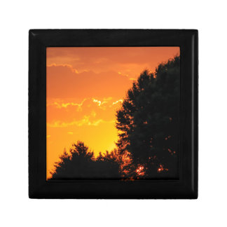sunset small square gift box