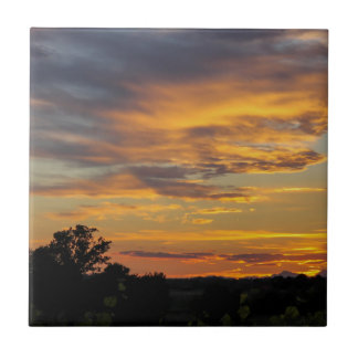 sunset small square tile