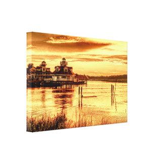 Sunset Smithfield - digital art canvas print