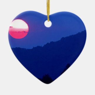 Sunset Smoky Mountain Tennessee Christmas Ornament