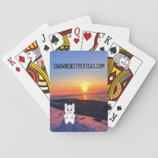 Sunset Snow Beast Reviews Playing Cards