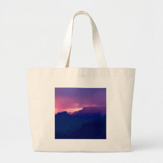 Sunset Snow Showers At Grand Canyon Tote Bag