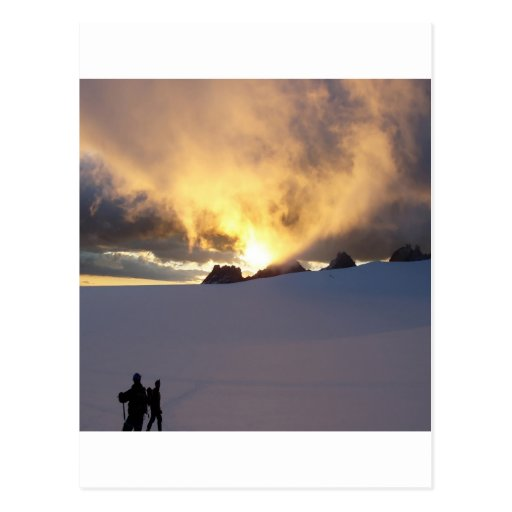 Sunset Snowcapped Post Card