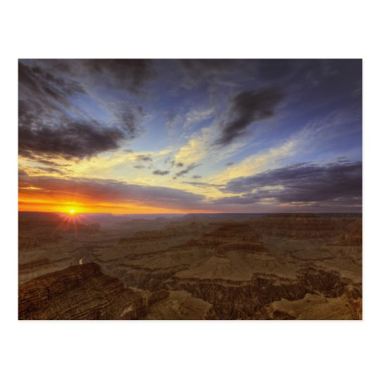 Sunset, south rim of the Grand Canyon, Grand Postcard