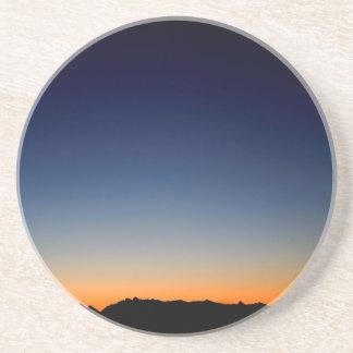 Sunset Space Glow Beverage Coaster