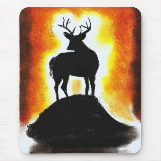 sunset stag mouse pads