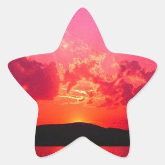 Sunset Star Sticker