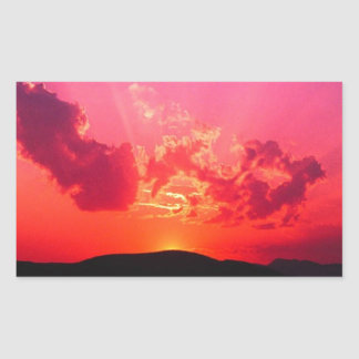 Sunset Rectangular Stickers