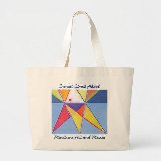Sunset Strait Ahead Large Tote Bag