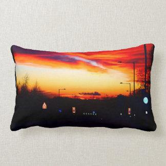 Sunset Street Scene 02 Lumbar Cushion