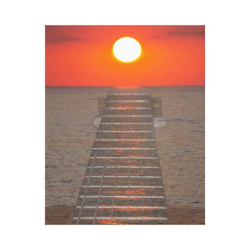 sunset stretched canvas canvas print