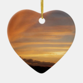 Sunset Strip Ceramic Heart Decoration