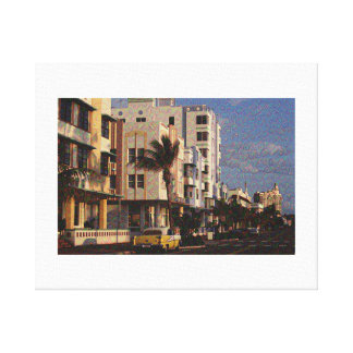 Sunset Strip - Created by Neural Dream App! Canvas Print