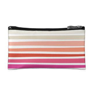 Sunset Stripe Cosmetics Bag Makeup Bags