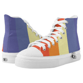 Sunset stripes printed shoes