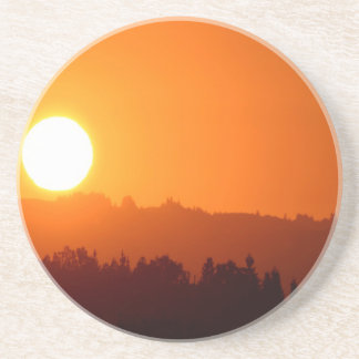 Sunset Summer Glow Drink Coasters