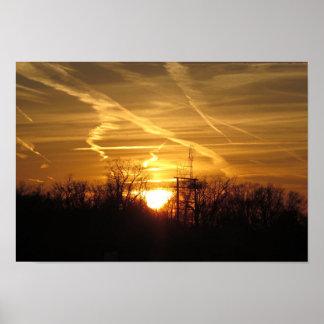 Sunset Sun Set Golden Happy Cheerful Energy Poster