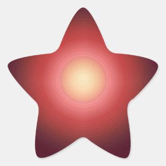 Sunset SunEnergy : Artist Created Graphics Star Sticker