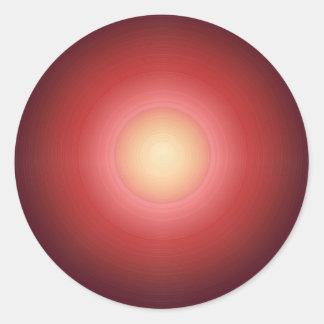 Sunset SunEnergy : Artist Created Graphics Round Stickers