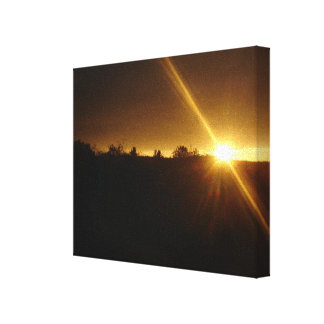 Sunset Sunflash Canvas Print