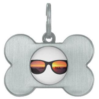 Sunset sunglasses pet tag