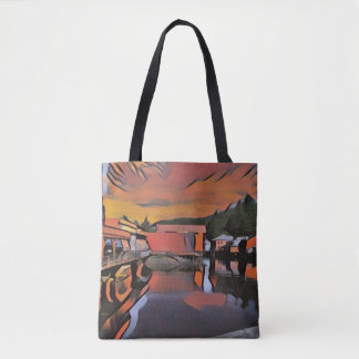 Sunset Sunrise Alaska Scene Tote Bag Purse