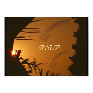 Sunset ,Sunrise,RSVP_ 9 Cm X 13 Cm Invitation Card