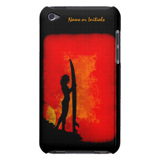 Sunset Surfer Girl iPod Touch Case
