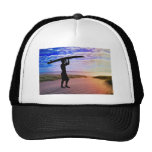 Sunset Surfer Sand & Clouds Hats