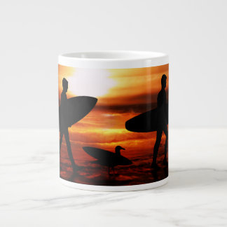 Sunset Surfers Large Coffee Mug