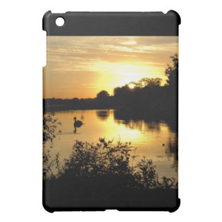 Sunset Swan Lake orange yellow iPad Mini Cover
