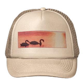 Sunset Swans Trucker Hat