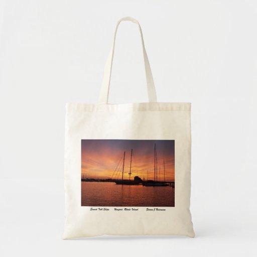 Sunset Tall Ships Canvas Bag