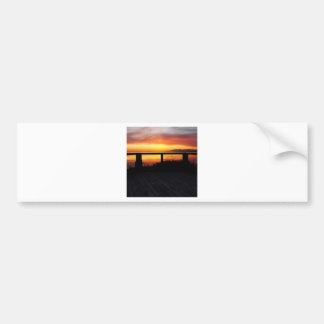 Sunset Terraced Horizon Bumper Stickers