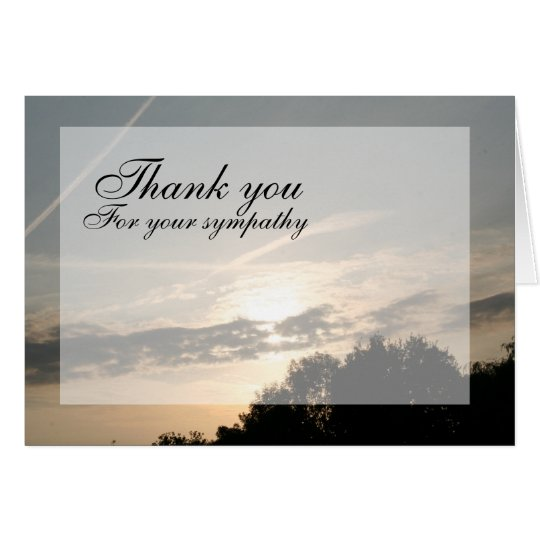 Sunset Thank you Card