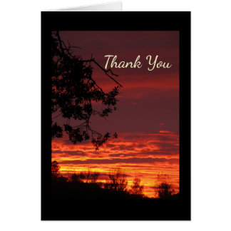 Sunset Thank You Note Card