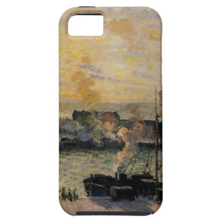 Sunset, The Port of Rouen (Steamboats) by Camille Tough iPhone 5 Case