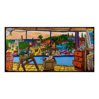 Sunset - The Studio, Jonathan Kis-Lev Poster