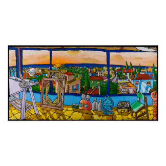 Sunset - The View, Jonathan Kis-Lev Poster