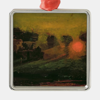 Sunset through Trees, c.1855 Christmas Ornament