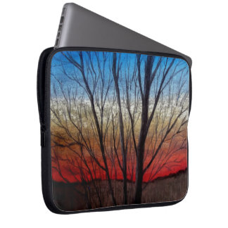 Sunset thru' trees, laptop bag computer sleeves