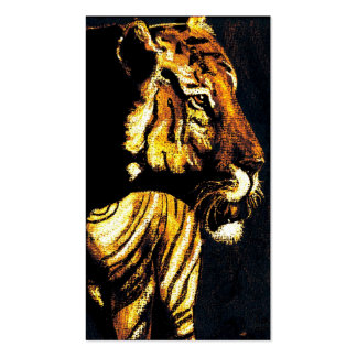 sunset tiger pack of standard business cards