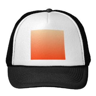 Sunset to Coquelicot Horizontal Gradient Mesh Hat