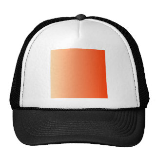 Sunset to Coquelicot Vertical Gradient Mesh Hats