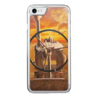 Sunset Tractor Design Carved iPhone 7 Case