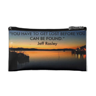 Sunset, Travel Quote, Makeup Bag