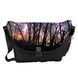 Sunset Tree Silhouette Bag Messenger Bags