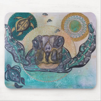 Sunset turtles mouse mat