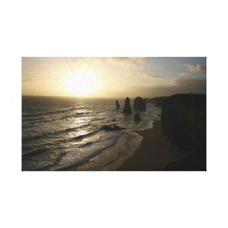 Sunset, Twelve Apostles, Great Ocean Road - Canvas Canvas Prints