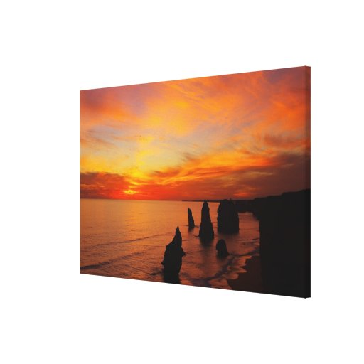 Sunset, Twelve Apostles, Port Campbell National Stretched Canvas Prints